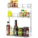 Étagère à épices et Bouteilles Andrew James – A fixer sur porte de placard de cuisine ou mur