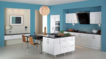 Plain Teal Kitchen / Bathroom Wallpaper 572024 & Plain Teal Kitchen / Bathroom Wallpaper 572024: Amazon.co.uk: DIY ...