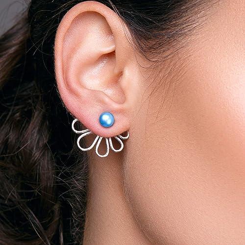 Boho earrings Bohemian earrings Copper earrings Handmade earrings Half moon copper studs Half moon ear jacket Asymmetrical earrings