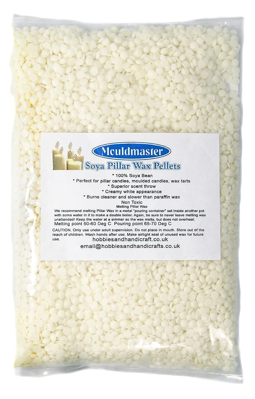 Mouldmaster Pellets di cera per candele a colonna di soia 2 kg, colore: panna/bianco sporco Kerasoy 329 05