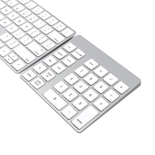 6 opinioni per Cateck Tastierino numerico Ricaricabile in Alluminio Bluetooth Wireless per