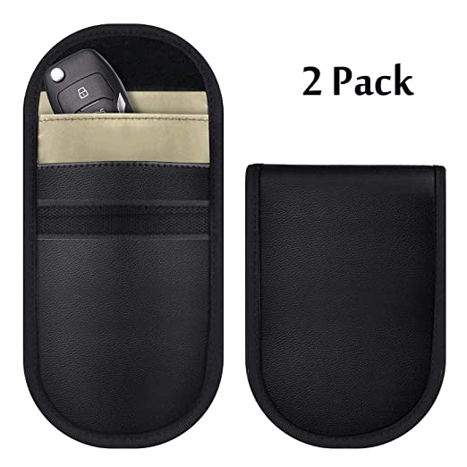 Kaskawise 2 pack car key fob rfid signal blocking bag, faraday bag.