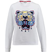 KENZO Women's Fuchsia Sweater with Tiger and Logo