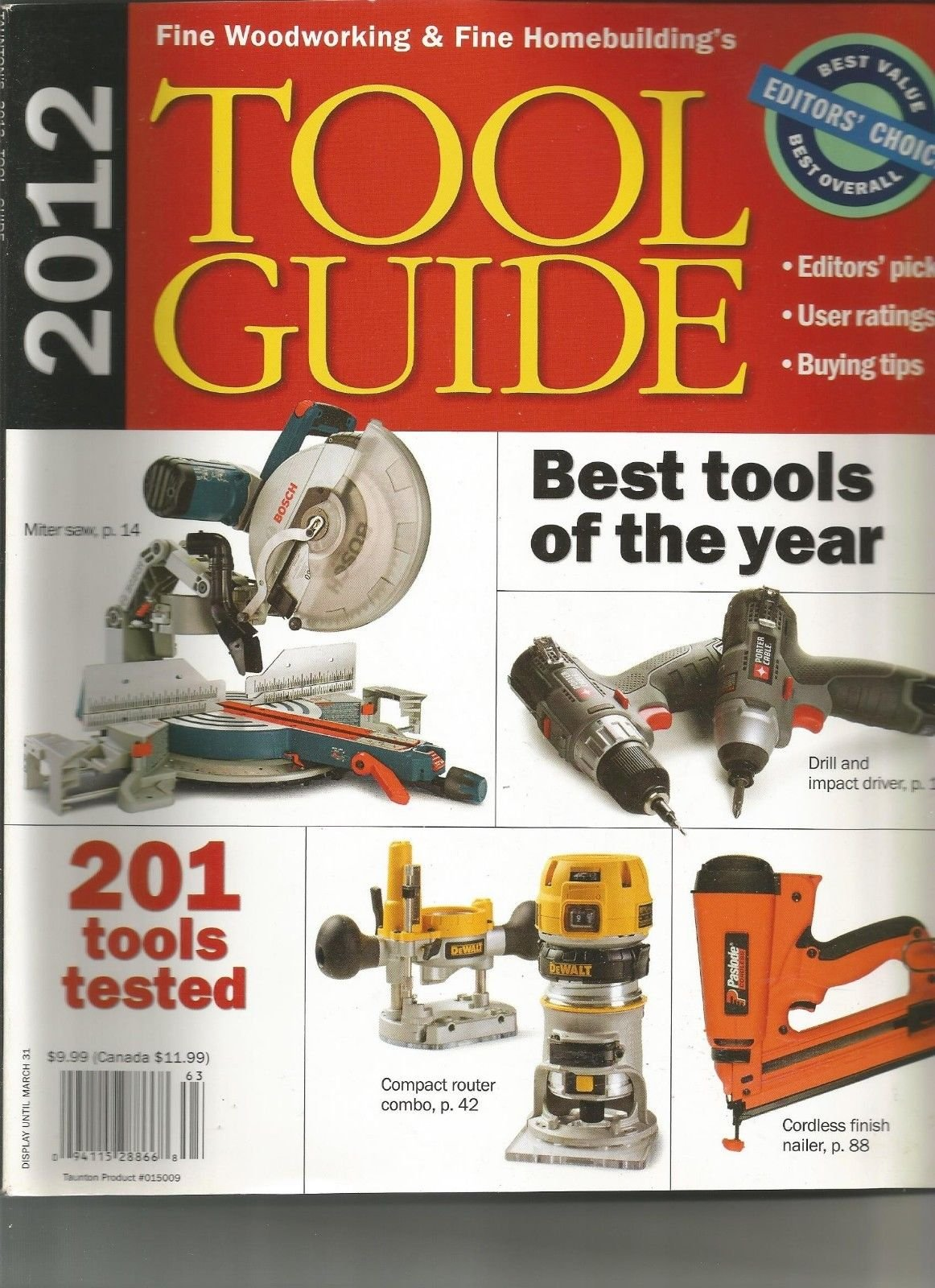 TAUNTON'S FINE WOOD WORKING, 2012, TOOL GUIDE ~
