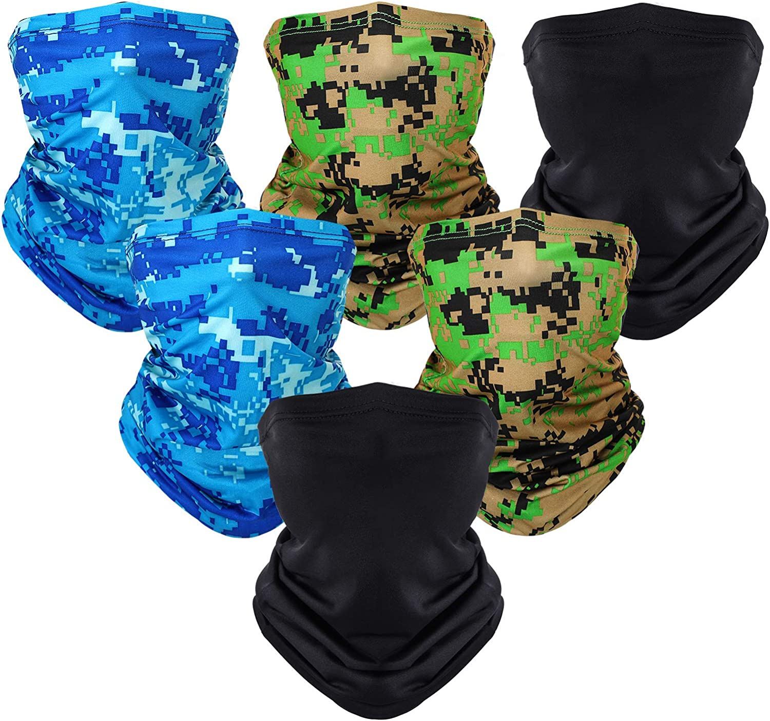SATINIOR Summer Face Cover UV Protection Neck Gaiter Wicking Headbands Breathable Bandana