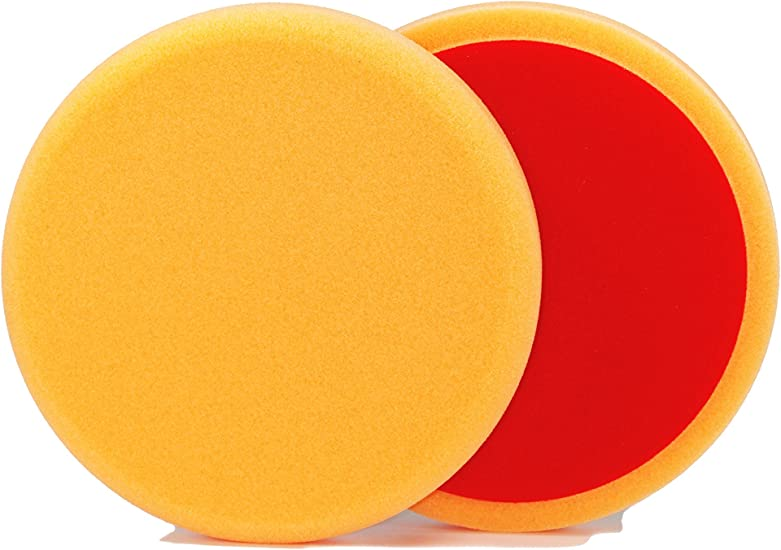 Alclear 5513530ah Polierpad Gegen Hologramme Auto Polierschwämme Durchmesser 135x25 Mm Orange 2er Set Polierpad Polieren Pad Schwamm Polierschaum F Poliermaschine Auto