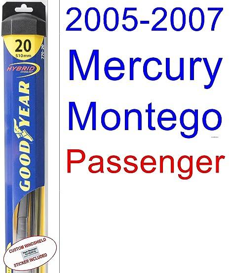 mercury montego 2006 windshield wipers