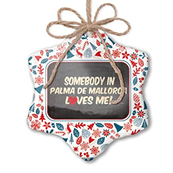 Amazon.com: NEONBLOND Christmas Ornament Somebody in Palma ...
