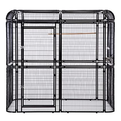 43a06fc36 Sliverylake Large Heavy Duty Bird Cage Big Walk in Cages Aviary Parrot  Macaw Conure Lovebird Pet