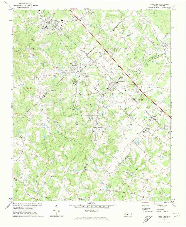 Amazon Com Yellowmaps Matthews Nc Topo Map 1 24000 Scale 7 5 X