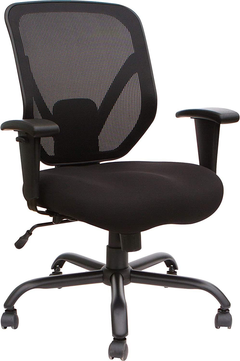 Lorell Soho Big & Tall Mesh Back Chair, Black