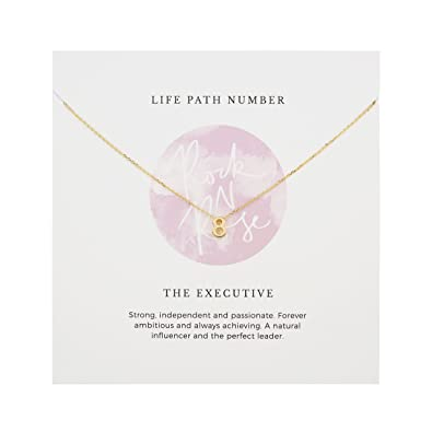 Rock 'N Rose Life Path Number 8 Necklace: Amazon co uk: Jewellery