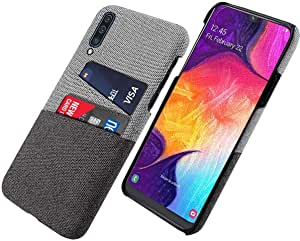 For Samsung Galaxy A70 Fabric Cover Case - gray