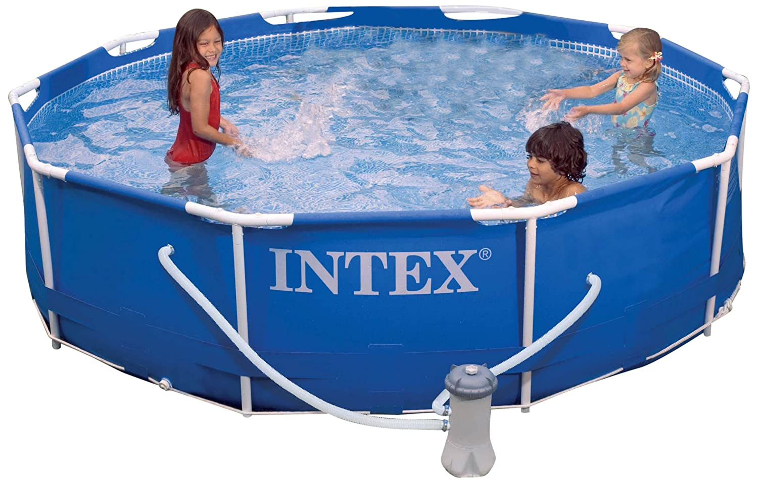 amazoncom intex metal frame pool set 10 feet x 30 inch sports outdoors