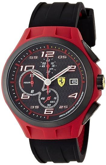 Ferrari 830017 - Reloj analógico de cuarzo para hombre, correa de silicona color negro (