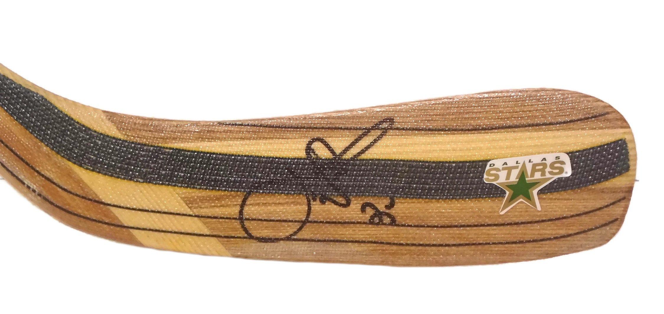 Dallas Stars Joe Nieuwendyk Autographed Hand Signed Stars Logo Hockey Stick Blade with Proof Photo of Signing and COA