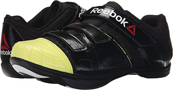 Reebok Men's Cycle Attack u m, BlackHigh Vis GreenWhite, 4