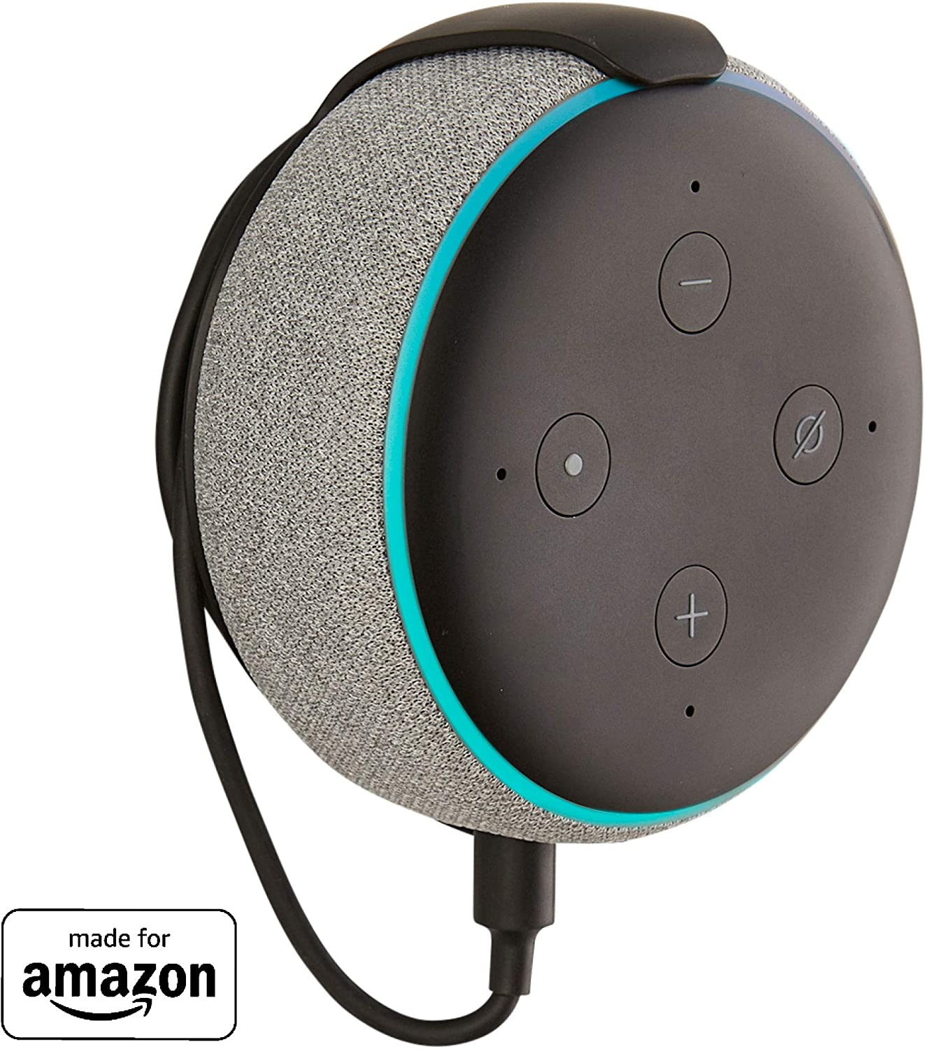 Made for Amazon Mount for Echo Dot (3rd Gen) - Black