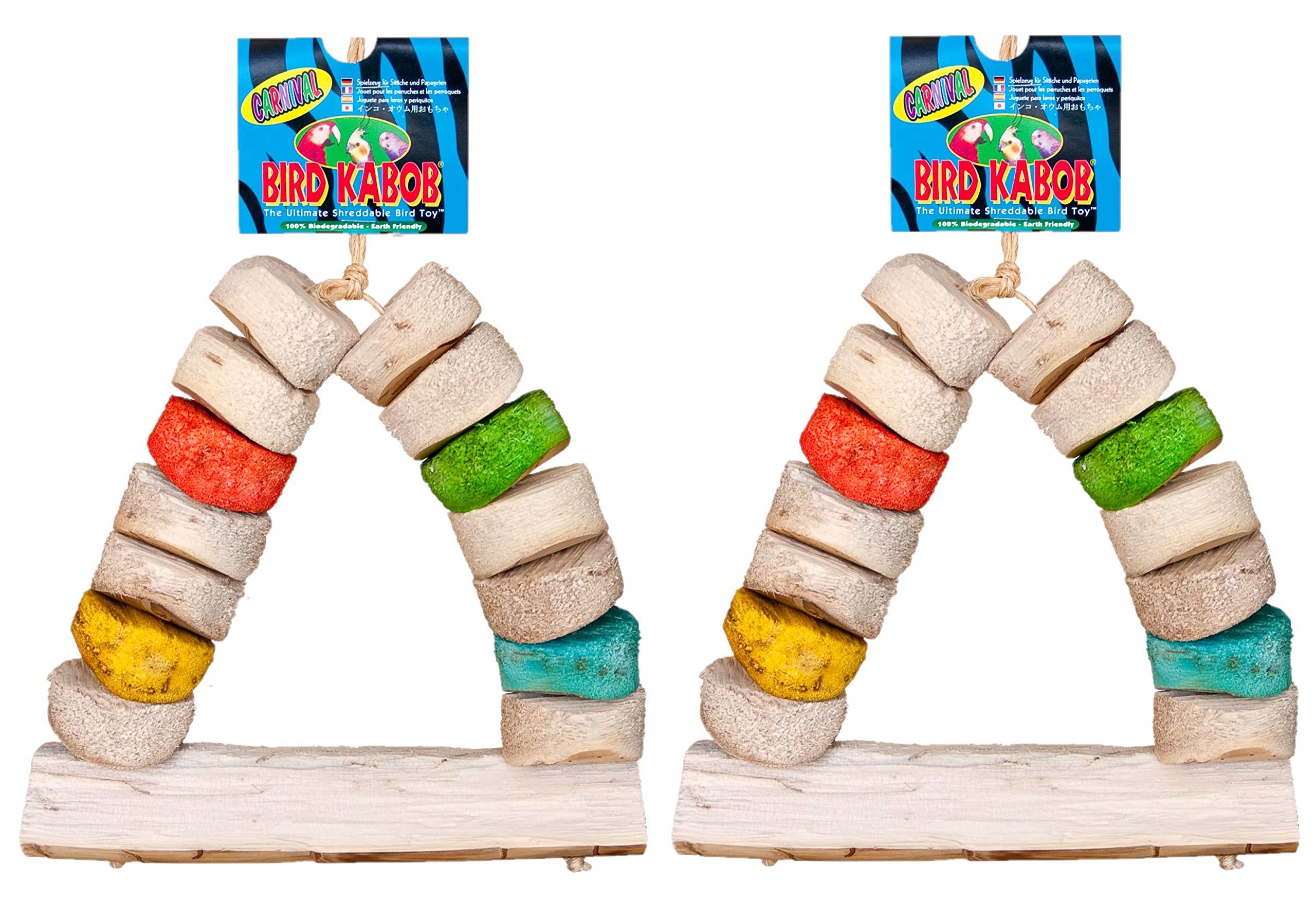 BIRD KABOB Wesco Shreddable Bird Perch Toy - Carnival 8.5'' Long x 13'' High - Pack of 2 by BIRD KABOB