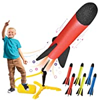 Toy Rocket Launcher for kids – Shoots Up to 100 Feet – 8 Colorful Foam Rockets and...