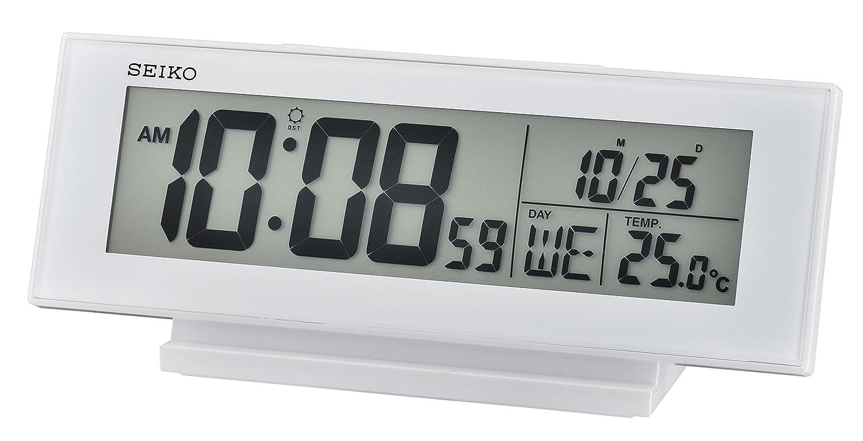 Seiko Unisex Wecker Digital Kunststoff Weiß QHL072W