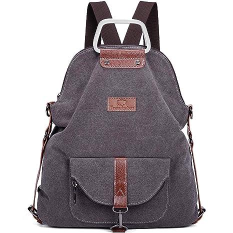 10acd3df2b7d8 Travistar Rucksack Damen Handtasche Schultertasche Canvas Schultasche  Reiserucksack für Frauen