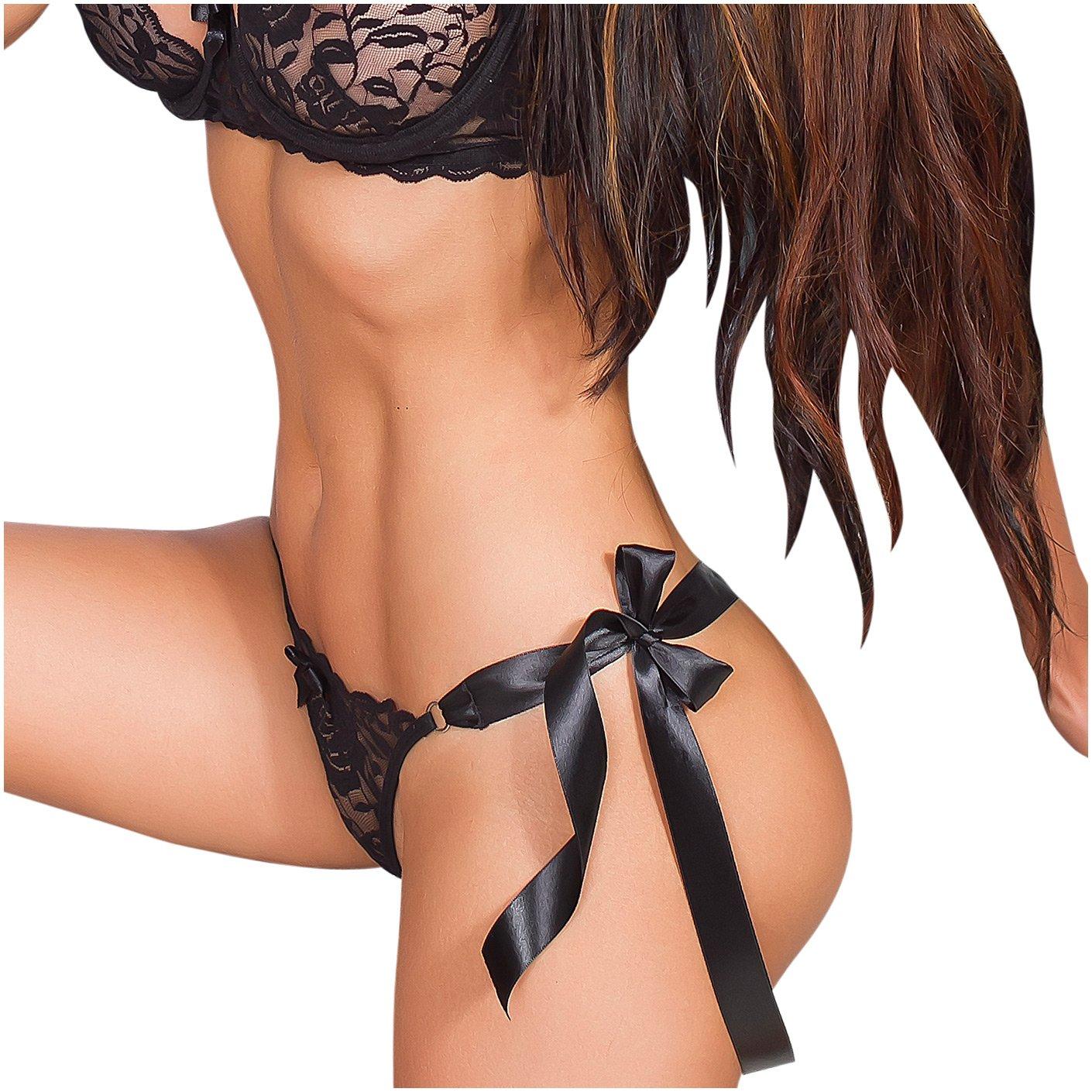 Amawi 1036 Sexy Lace Thong Panties For Women Underwear Lenceria Erotica Para Mujer Ropa Interior Femenina Sensual Colombiana de Encaje Black/Negro at Amazon ...