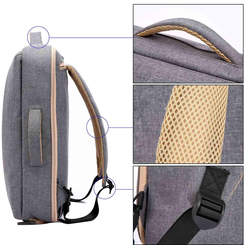 Neuleben Multifunktional 15  Laptop Rucksack Handtasche Schultertasche Schultertasche Schultertasche 3in1 Canvas Vintage Aktentasche Rucksäcke für Damen Herren (Khaki) B07BK5CFMX Daypacks Garantiere Qualität und Quantität 264ea0