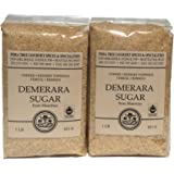India Tree Raw Cane Brown Demerara Sugar for Coffee and Baking (2 Lbs)