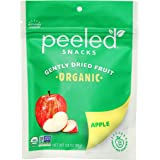 Peeled Snacks Organic Dried Fruit, Apple, 2.8 oz. – Healthy, Vegan Snacks for On-the-Go, Lunch and More