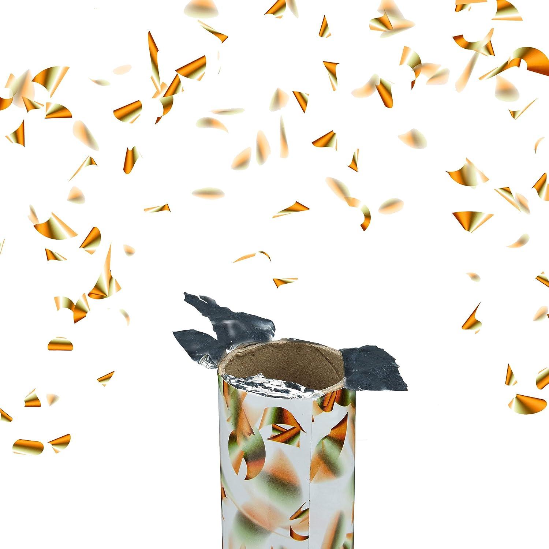 6-8m Effekth/öhe Gold Konfetti-Shooter Relaxdays Party-Popper 40 cm Konfetti-Kanone
