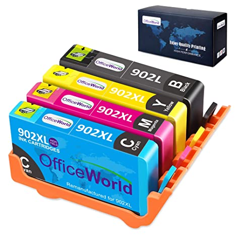Office World Compatible Ink Replacement for HP 902 902XL Ink Cartridge  Works with HP OfficeJet Pro 6978 6968 6962 6958 6970 6960 6979 6950 6954  6975