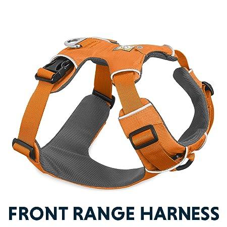 50c762fd629a Ruffwear Harnais de tous les jours pour chien, Pour l aventure, Chiens de  taille moyenne, Ajustement sur mesure, Taille M, Orange (Orange Poppy), ...