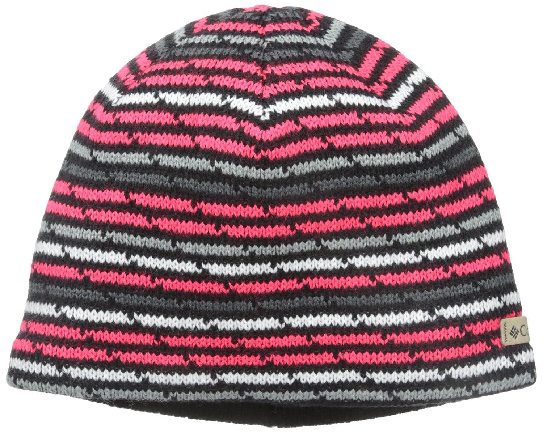 Columbia Big Boys' Youth Winter Worn Beanie Black Stripe One Size 1624961