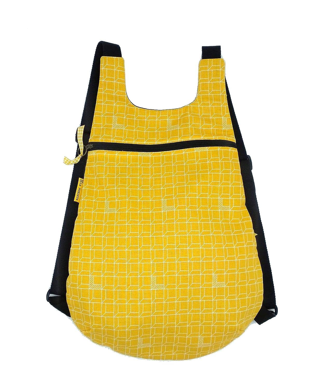 Mochila de tela original para adultos Geométrica Amarilla ...