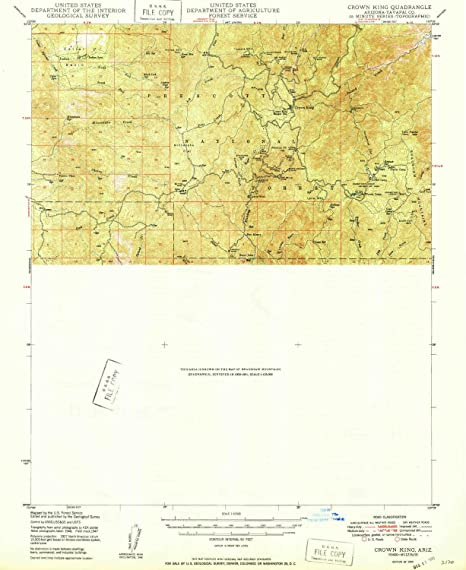 Map Of Crown King Arizona.Amazon Com Yellowmaps Crown King Az Topo Map 1 62500 Scale 15 X