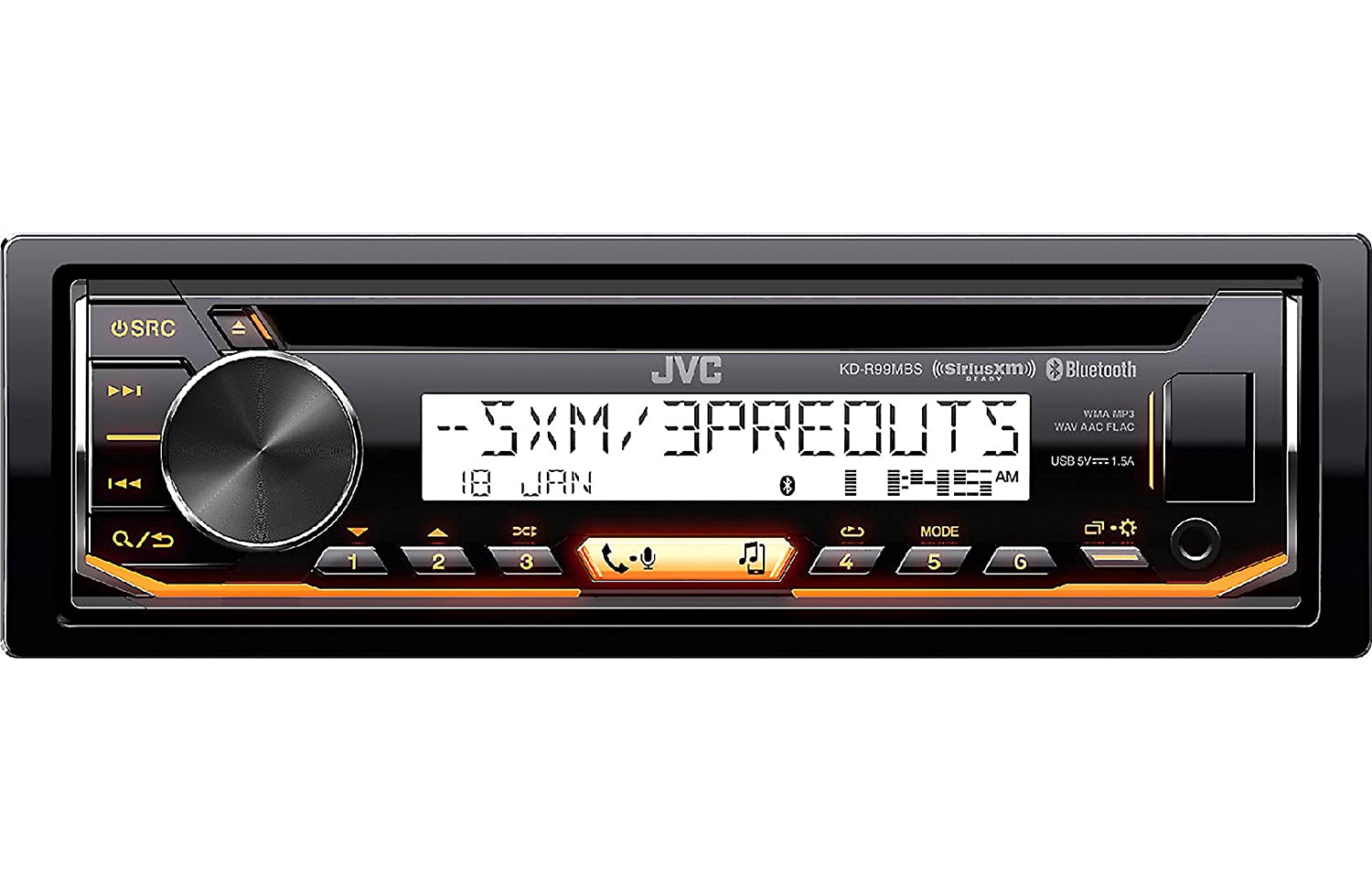 JVC Marine Boat Yacht Radio Stereo CD Player Receiver Bundle Combo 6.5 2-Way Coaxial Speakers JVC Pyle Enrock KDR97MBS CSDR6201MW EM16G50FT-OFC EKMR1