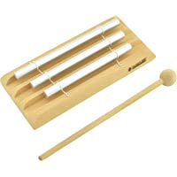 MUSICUBE Meditation Chime with 3 Tone (C-E-G) Wooden Hand-held Percussion Zenergy Chimes for Classroom Management, Yoga, Meeting and Sound Therapy, Chime Mallet Included