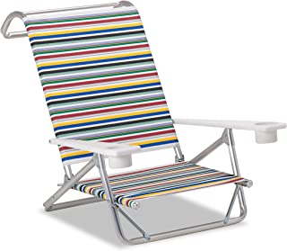 product image for Telescope Casual M54100902 Original Mini-Sun Chaise, Red Multi-Color Stripe, 2 Pack