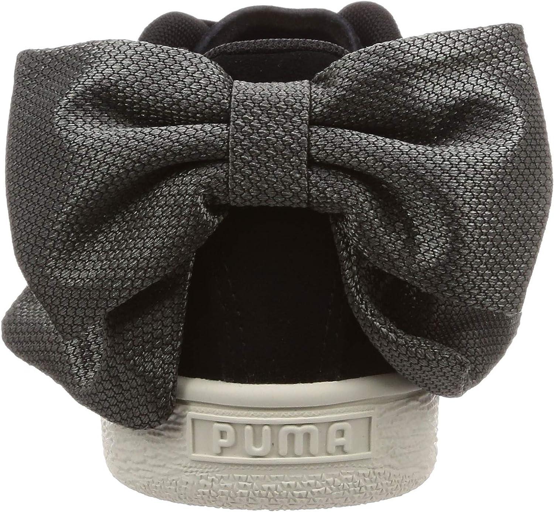 PUMA Suede Bow Hexamesh Wn\'s, Scarpe da Ginnastica Basse Donna Nero Puma Black Dark Shadow