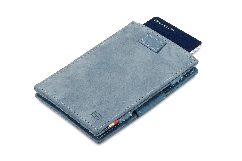 Garzini Thin Minimalist Genuine Leather Magic Wallet RFID Blocking Card Sleeves with Pull-Tab for Men