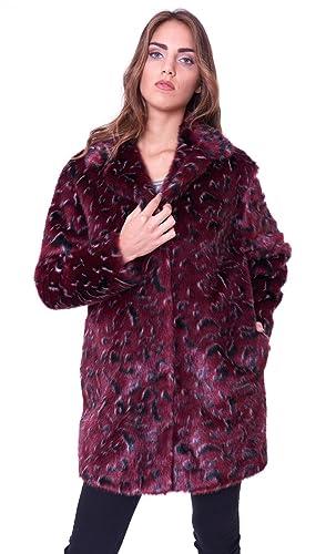 Trussardi Jeans - Abrigo - para mujer burdeos 36