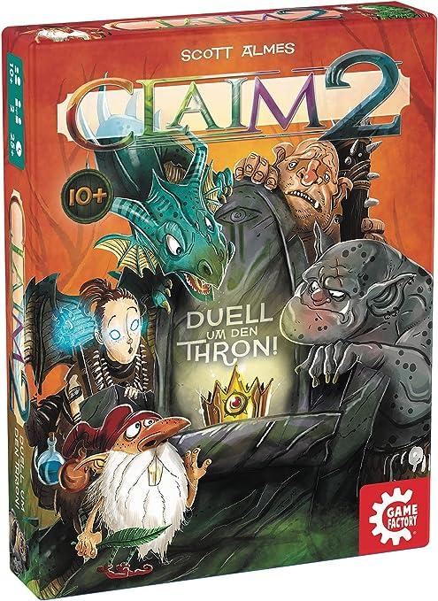 GAMEFACTORY-Claim 2, Das Duell um den Thron, Cartas, Juego de Puntadas, para 2 Jugadores, Color (Game Factory 646223): Amazon.es: Juguetes y juegos