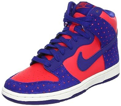 premium selection 6c675 c4568 Womens Nike Dunk Hi Skinny Print - Hyper Red Deep Royal Blue (543242-600)  UK 4  Amazon.co.uk  Shoes   Bags
