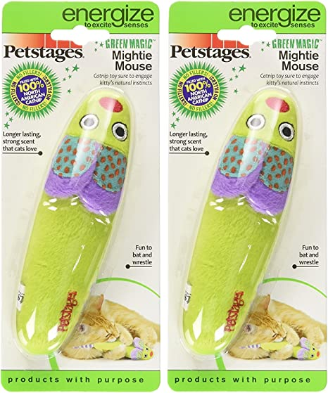 Petstages Boomerang Catnip Fetch and Bat Toy for Cats