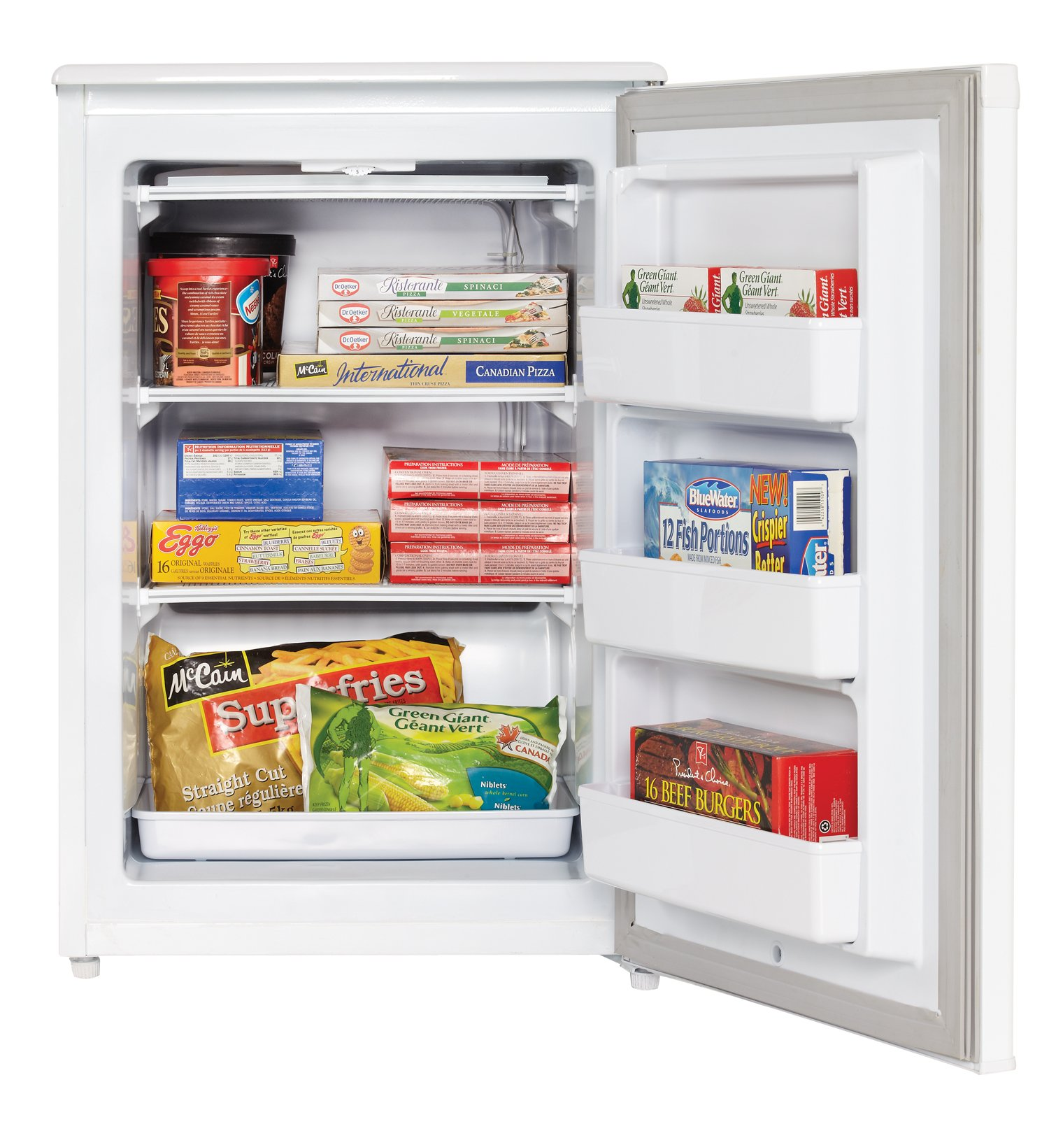Danby DUFM043A1WDD 4.3 Cubic Feet Upright Freezer, White by Danby (Image #6)