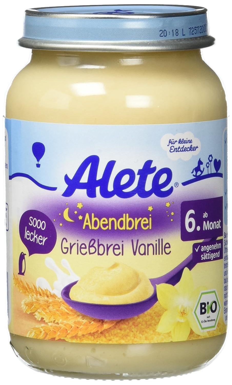 Alete Abendbrei Grießbrei Vanille, 6er Pack (6 x 190 g) 12283961