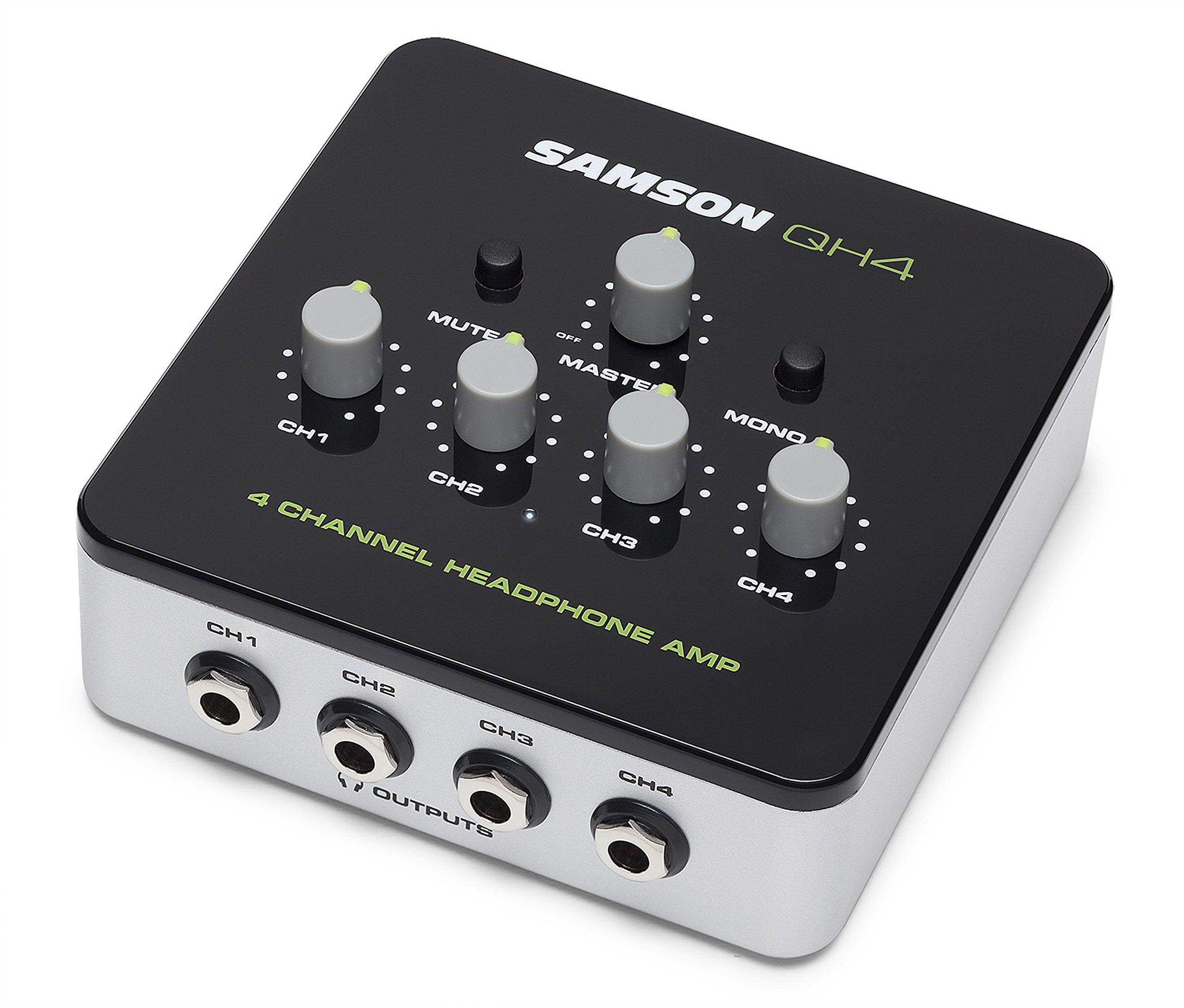Samson QH4 4-Channel Studio Headphone Amplifier