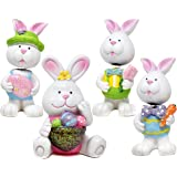 Easter Bunny Figurine Decor Table Topper - Spring Holiday Sculpture Decoration Table Top Decorative Centerpiece Bunnies for H
