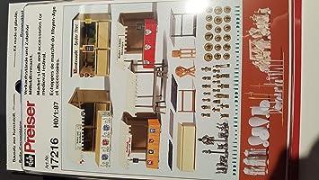 passende Figuren Preiser 16359 Preiser 17216 Verkaufsstände Mittelaltermarkt
